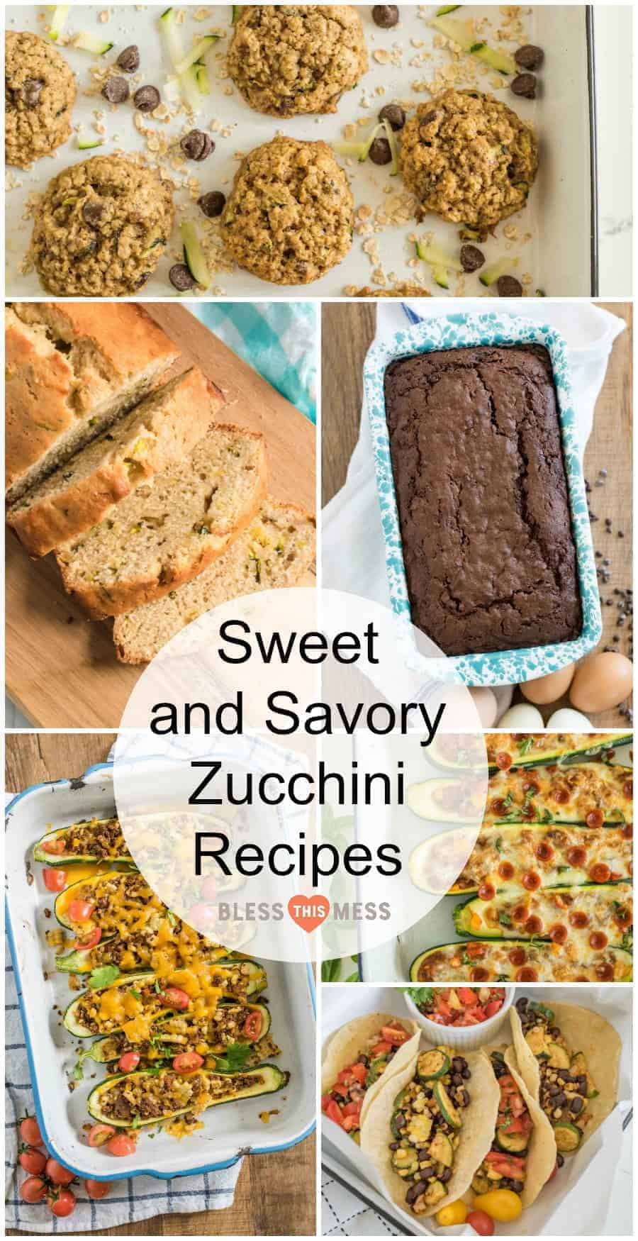 Title Image for 15+ Sweet and Savory Zucchini Recipes