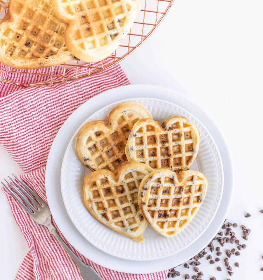 Fluffy Chocolate Chip Waffles
