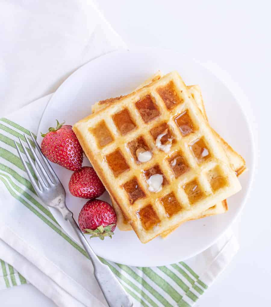 Homemade Classic Buttermilk Waffle Recipe