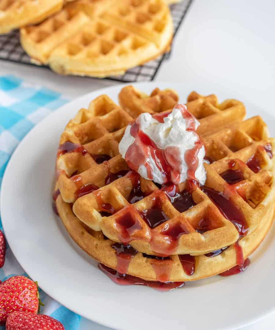 Extra Light and Fluffy Homemade Waffles