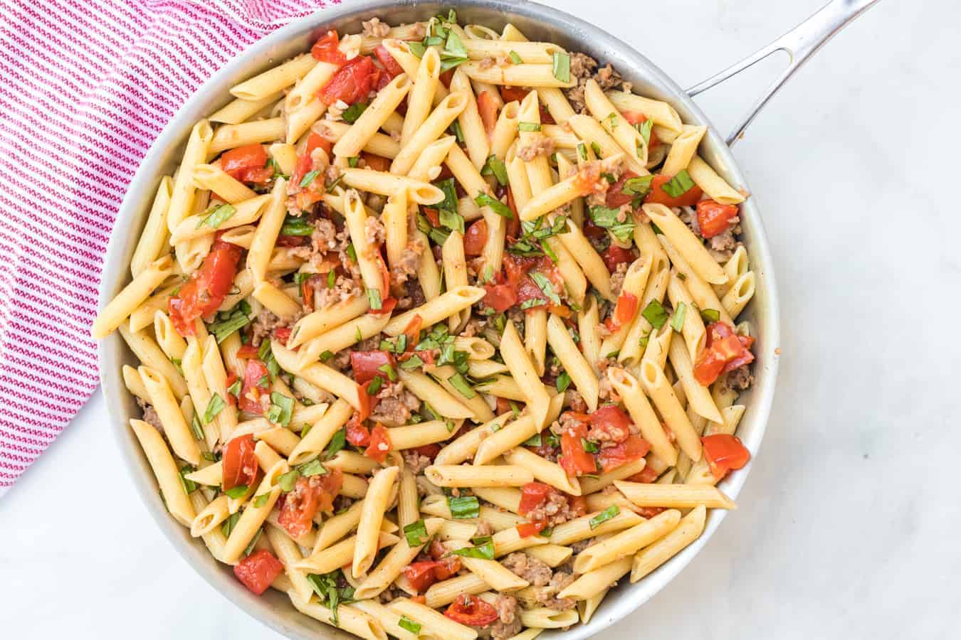 Image of a Pot of Roasted Tomato & Sausage Pasta