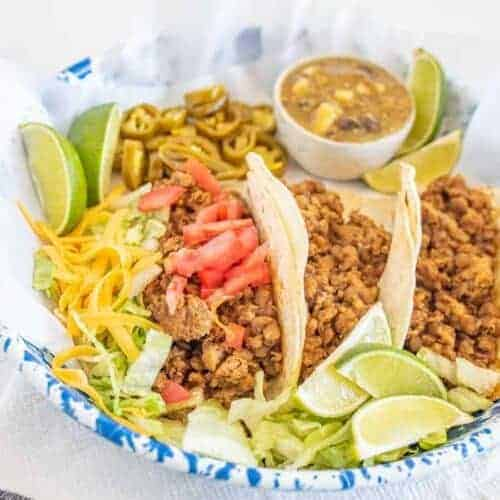 Instant Pot Ground Turkey and Lentil Taco Filling