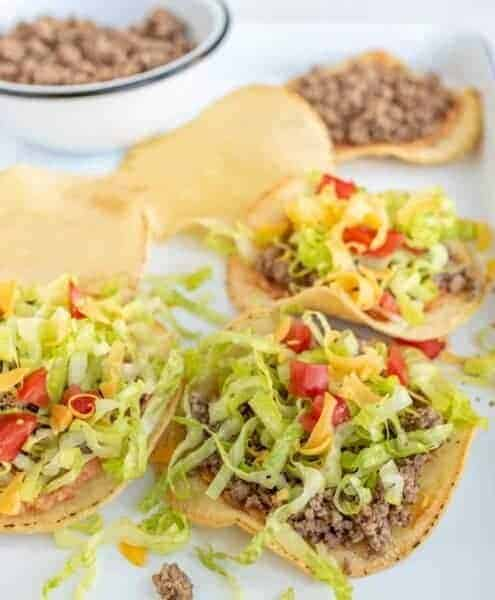 Image of ground beef tostadas