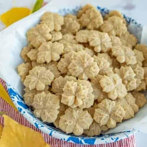 Pumpkin Pie Spice Spritz Cookies