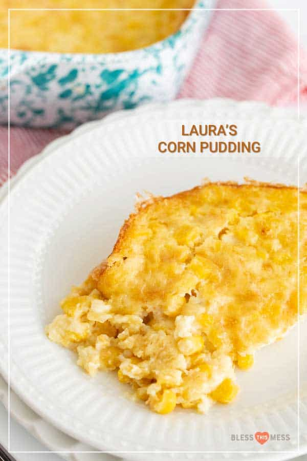 Thick, custardy, and just ever-so-slightly sweet, corn pudding is a perfect holiday side to balance your plate full of savory and rich foods! It's super easy to make, and is a wonderful dish to prep a day or two ahead of time to free up oven space and make your holiday a little calmer. #cornpudding #cornpuddingrecipe #corn #savorypudding #cornrecipes #holidayrecipes #holidaysides
