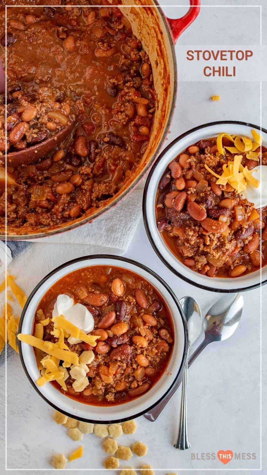 beef chili served and ready to eat