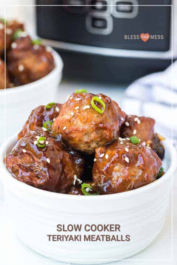 Homemade slow cooker teriyaki honey meatballs are a sweet, savory, and satisfying appetizer that comes together so easily for a scrumptious snack everyone will love. #meatballs #teriyaki #slowcookermeatballs