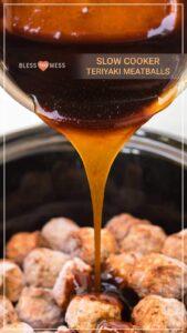 Crockpot Honey Teriyaki Meatballs | An Easy Meatball Appetizer Recipe