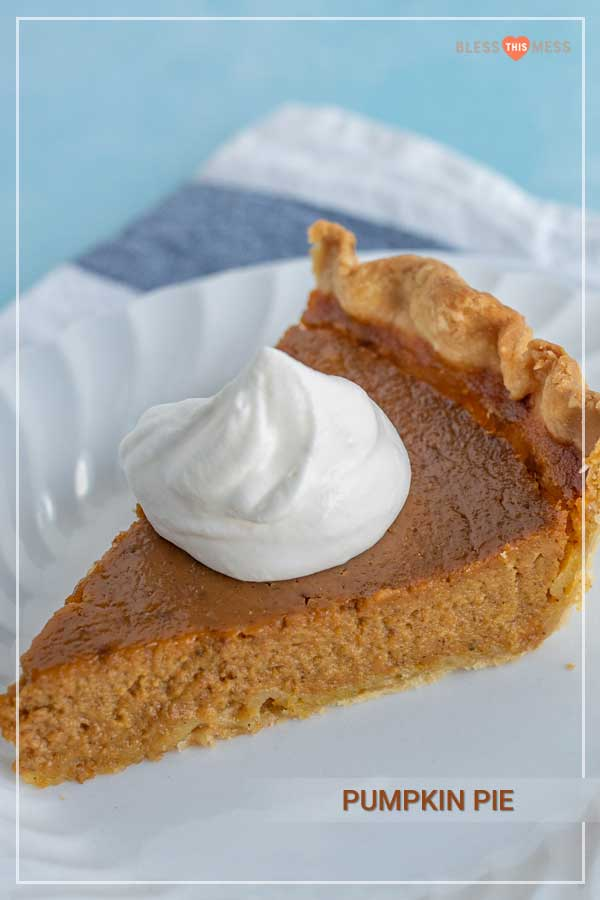 Pumpkin pie is a classic holiday dessert staple that is super easy to make at home for your loved ones and has all the warming, sweet, lovely layers of flavor you love in pumpkin pie! Thanksgiving is nearly here, and pumpkin pie is a MUST -- and it's way easier than you might expect to make from scratch! #pumpkinpie #pie #pierecipe #holidaypie #pumpkinrecipes #thanksgivingrecipes #holidaybaking #holidayrecipes