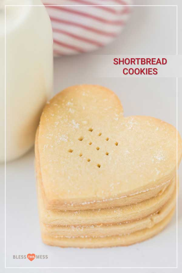 Easy shortbread cookies are crunchy, crumbly, and sweet (both to eat and look at!) and are so simple and fun to bake. You can feel the coziness in your home grow stronger when the wafting smell of these easy cookies fills your space, and it's kinda the best thing ever. #shortbreadcookies #cookies #shortbread #shortbreadcookierecipe #baking #cookierecipe