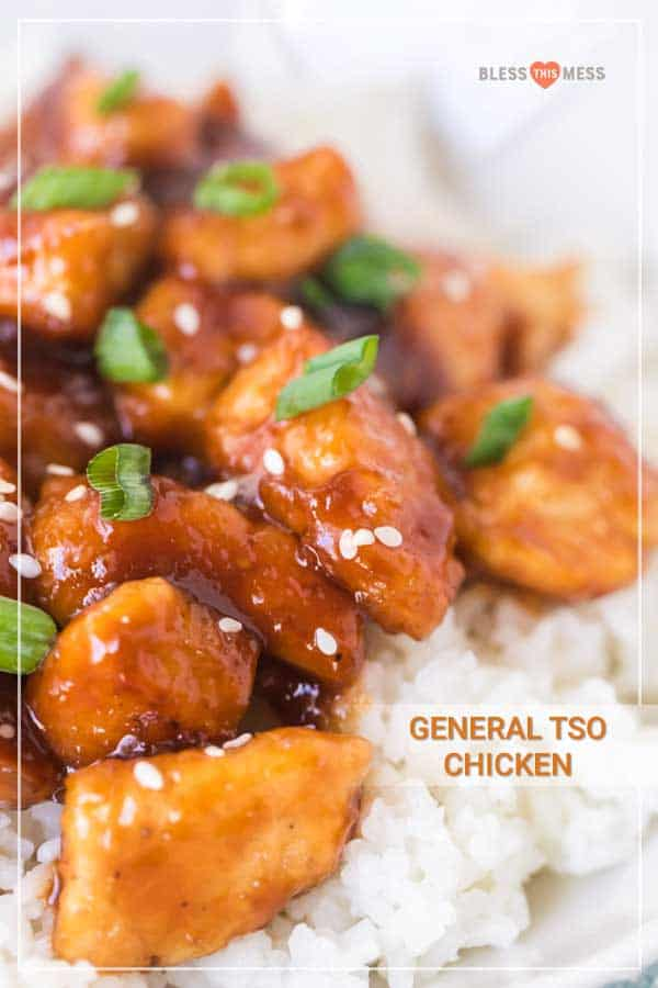 General Tso Chicken with White Rice