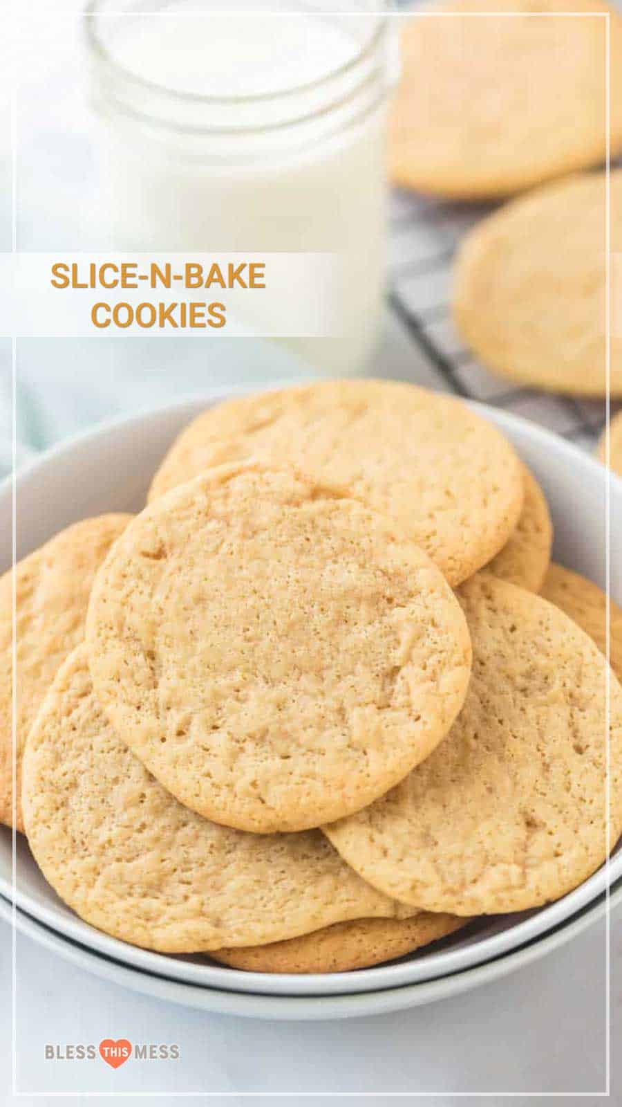 These simple, rich, and buttery slice and bake cookies come together with such ease -- just make the dough, slice it, and bake it! The dough is the best to have on hand for a quick and easy dessert, because freshly baked cookies are always a good idea (and don't need to take a ton of time!). #sliceandbakecookies #slicenbakecookies #sliceandbakecookiedough #homemadesliceandbakecookies #cookies #cookiedough #cookierecipe