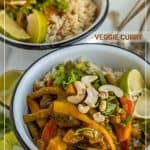 two bowls of easy veggie curry