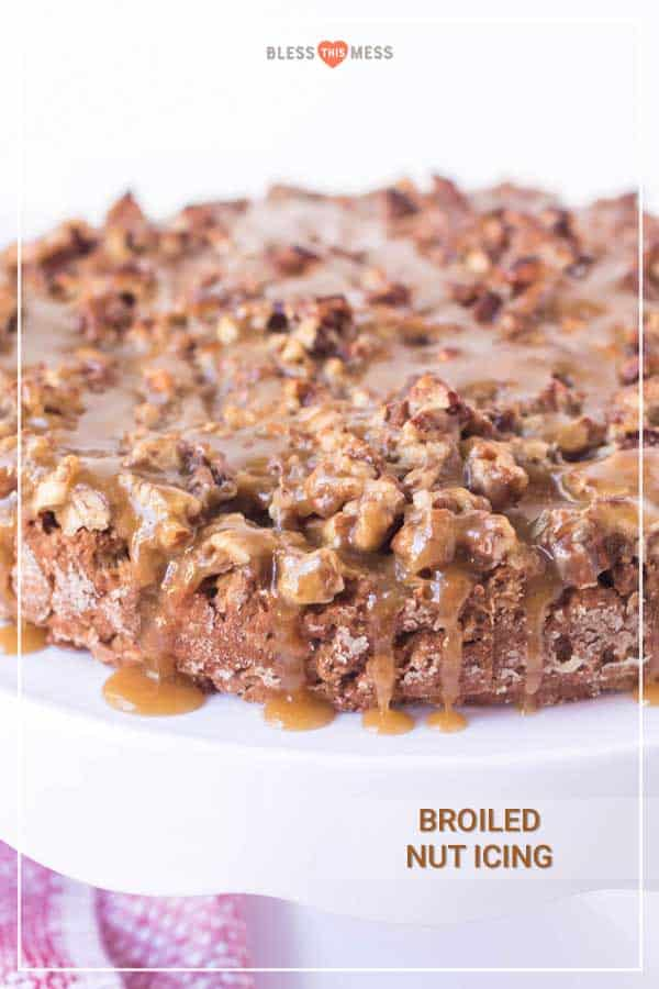 broiled nut icing on old fashioned oatmeal cake