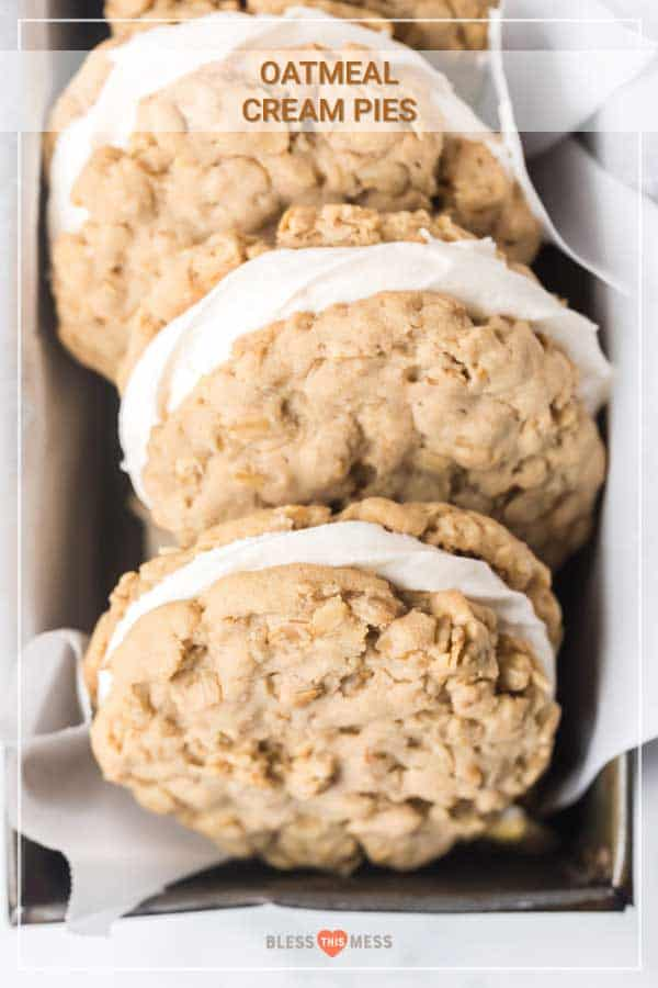 oatmeal cream pies with marshmallow fluff filling