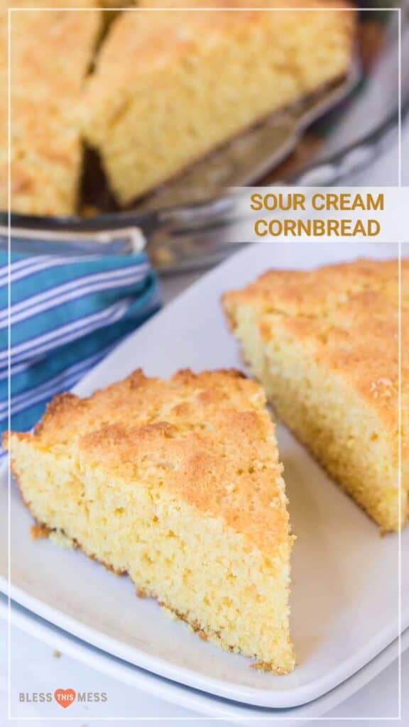 sour cream cornbread recipe pin