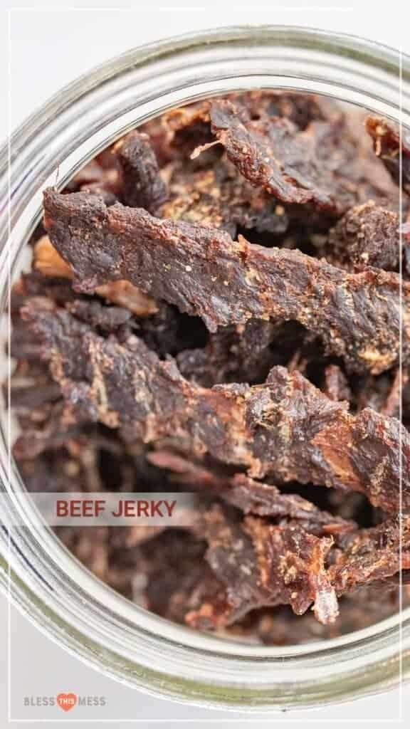 bowl of beef jerky