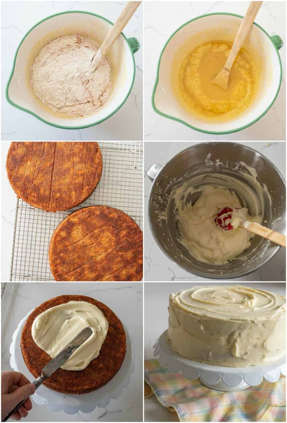 how to make the best carrot cake recipe collage image