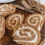 carrot cake roll pinterest image