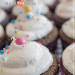 easy chocolate cupcakes recipe pin
