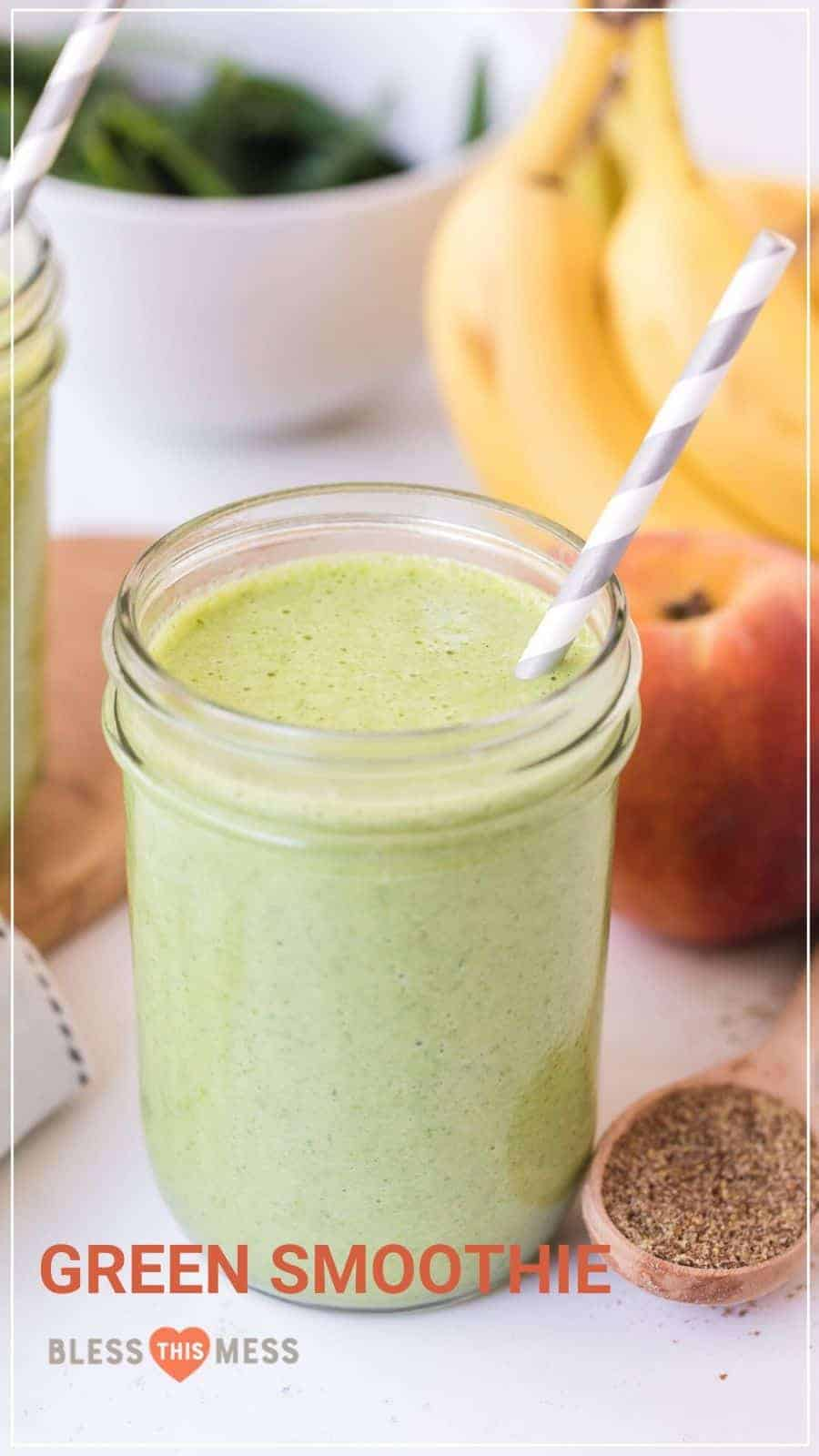 green smoothie pin