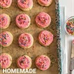 homemade pink lofthouse cookies pin