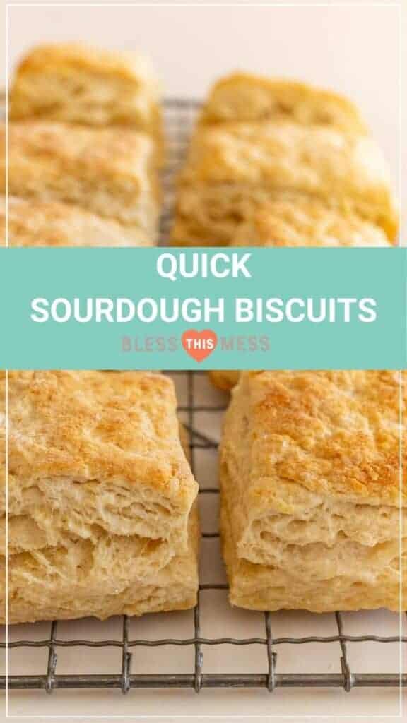 Quick Sourdough Biscuits Pin