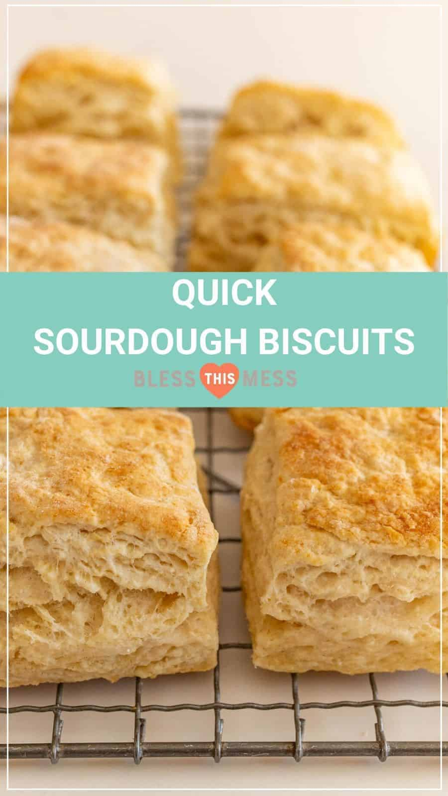 Quick Sourdough Biscuits Pin