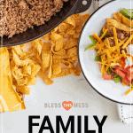 family dinner made easy book cover pin