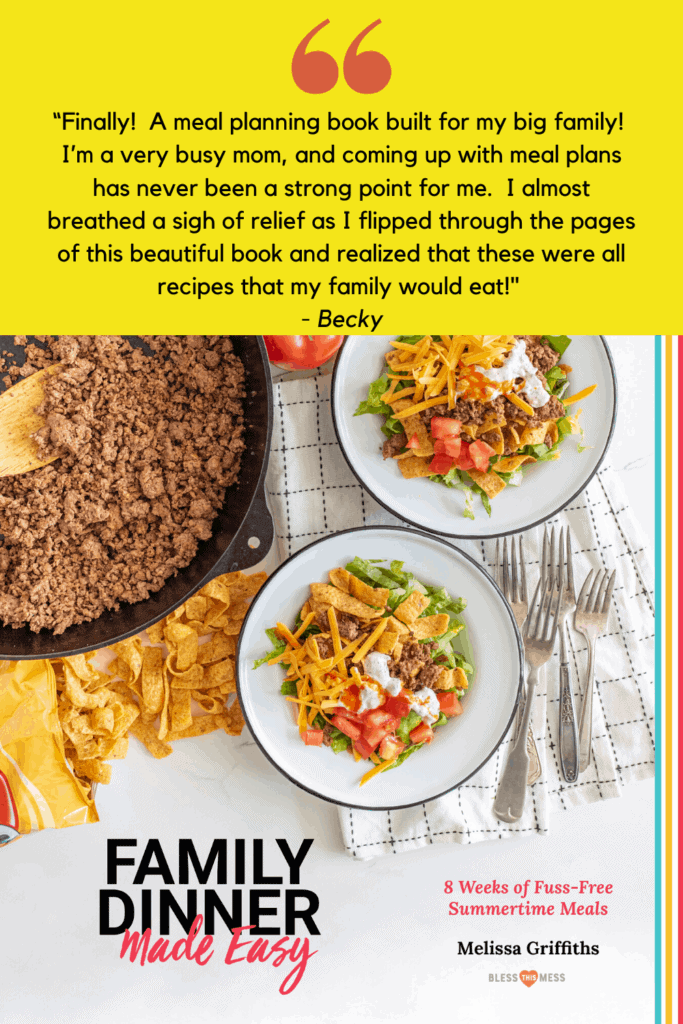 family dinner made easy ebook cover with review pin