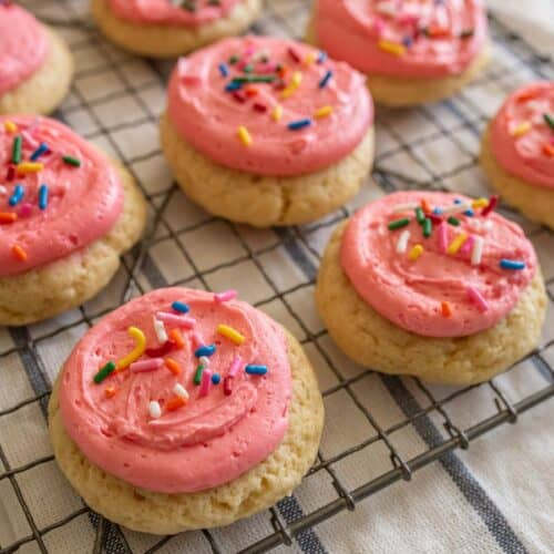 Homemade Pink Lofthouse Cookies