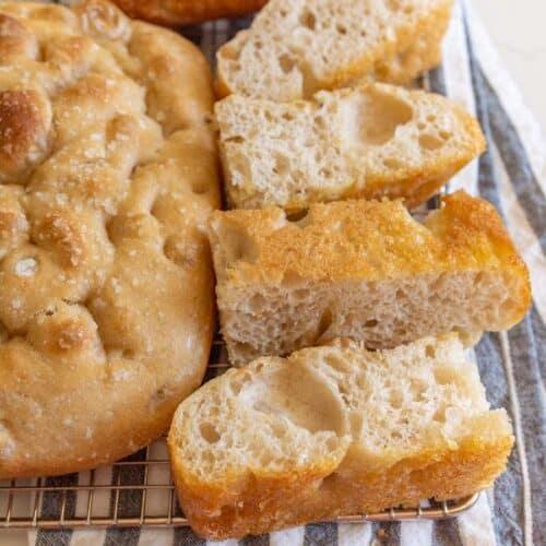 Easy Sourdough Focaccia Bread