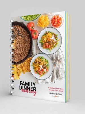 Family Dinner Made Easy meal planner spiral bound cookbook