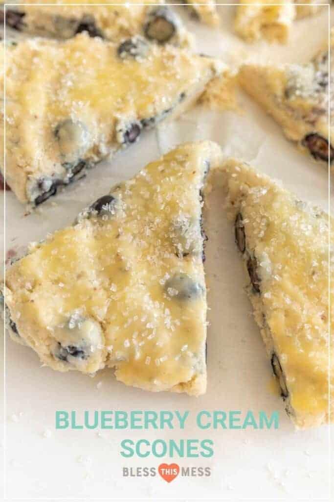 blueberry cream scones recipe pin