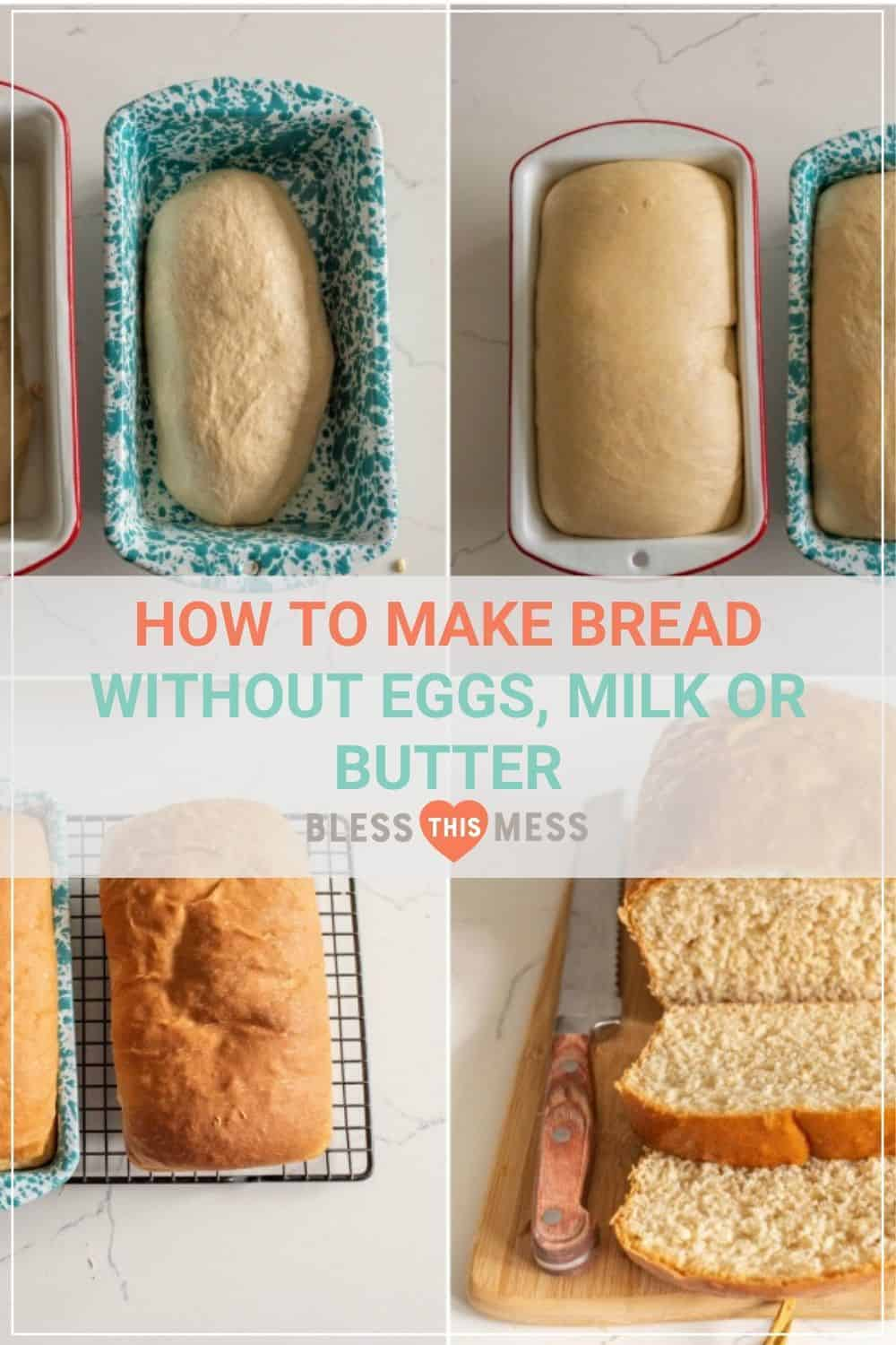 collage image of how to make homemade bread pin