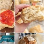 collage image of sourdough recipes pin