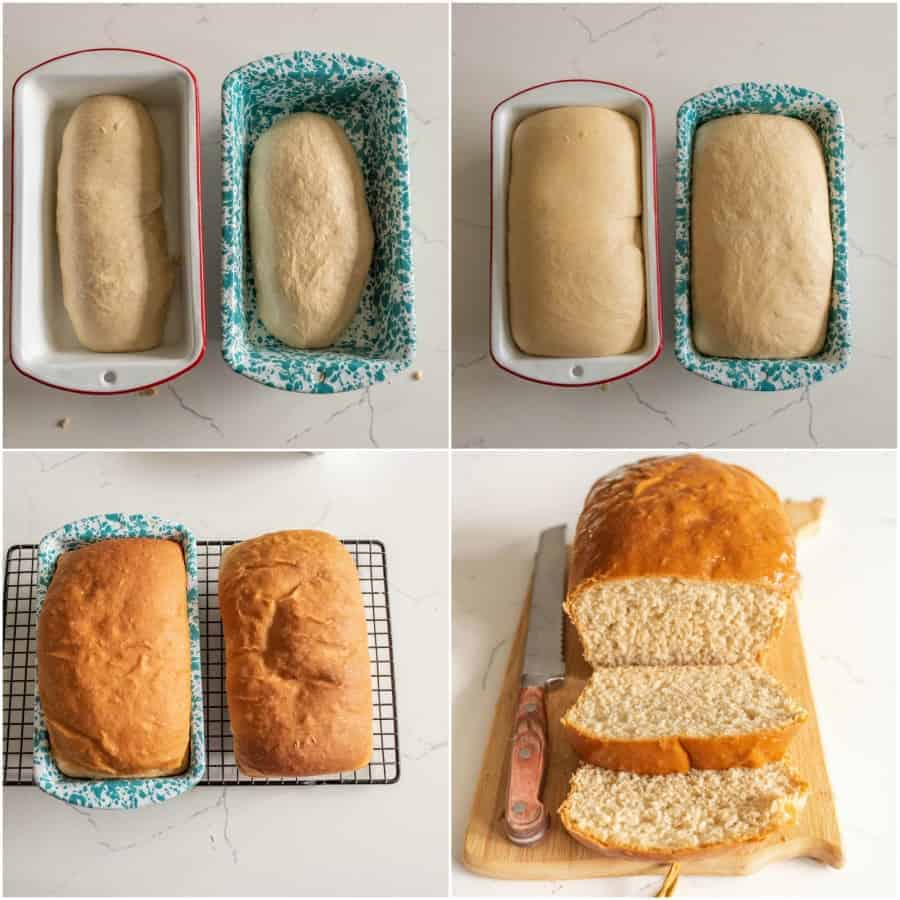 homemade bread collage image