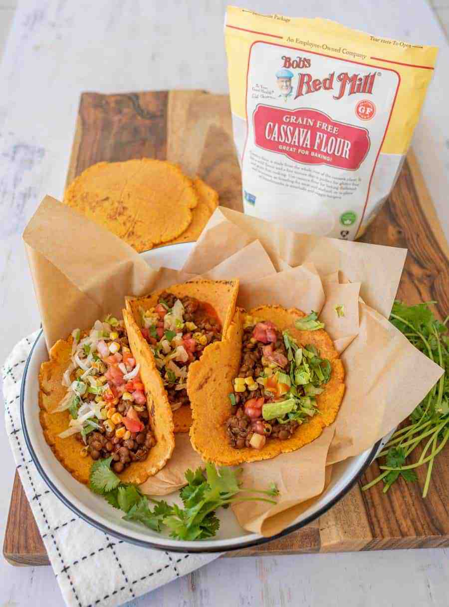 sweet potato cassava flour tortillas