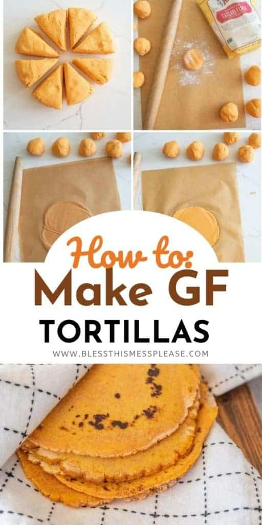 how to make gluten free tortilla collage with words