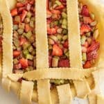 collage image of how to make pie crust a lattice