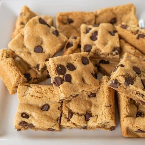 Gluten Free Almond Flour Chocolate Chip Cookies Bars