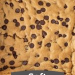 pin with text for gluten free cookie bar recipe