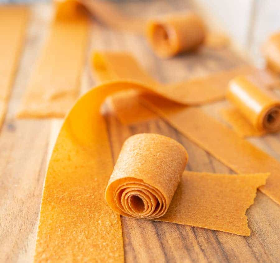 rolled dried fruit leather