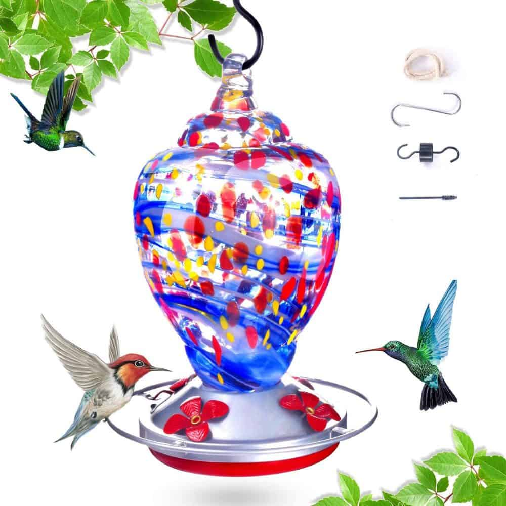 hummingbird feeders to buy blown glass