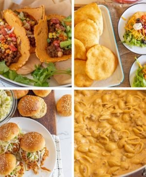 collage of easy dinner recipes