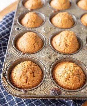 baked sourdough muffins
