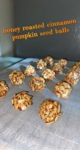 honey roasted pumpkin seed balls