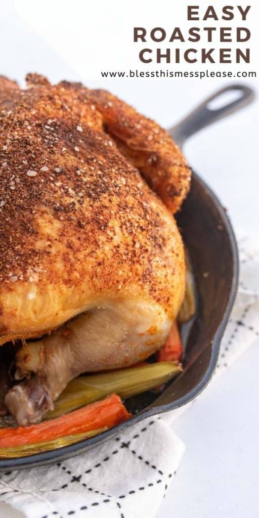 oven roasted chicken pin for pinterest