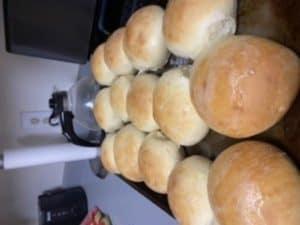 rolls on a baking sheet