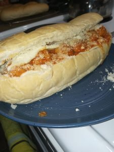 picture of a meatball sub sandwich